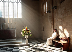 Enlightened (Lawrence OP) Tags: flowers light sunlight dominican cross prayer oxford creativecommons blackfriars rays meditation tabernacle friar contemplation