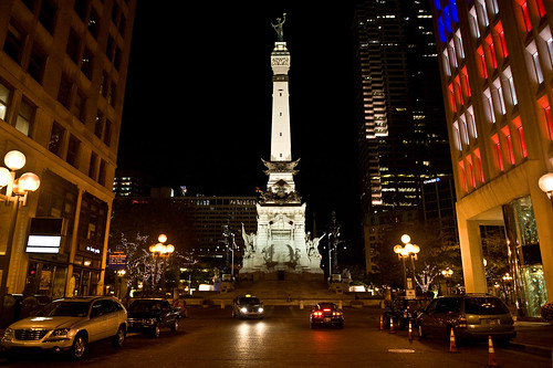 Downtown Indianapolis at Night