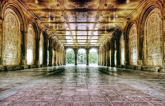 "central park underpass to ""the lake"" (mudpig) Tags: nyc newyorkcity newyork fountain architecture geotagged centralpark hdr mudpig stevekelley"