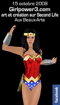 Girl Power 3.0 VII aux Beaux-Arts (art et création dans Second Life)