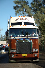 AT1413 (Australian Trucks Archive) Tags: road charity travel cruise tractor travelling industry animals kids rural truck balloons out children fun toys prime for drive big highway soft industrial colours ride diesel south country transport group australian horns australia semi special kind machinery event riding lorry rig transportation disabled land vehicle outback trucks trailer heavy sick fundraising convoy bitumen fuel services mover trucking helping semitrailer novita hearted childrens kids truckies convoy