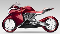 Honda V4 concept motorcycle pictures