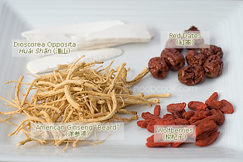 Ingredients for making Ginseng Chicken Soupp