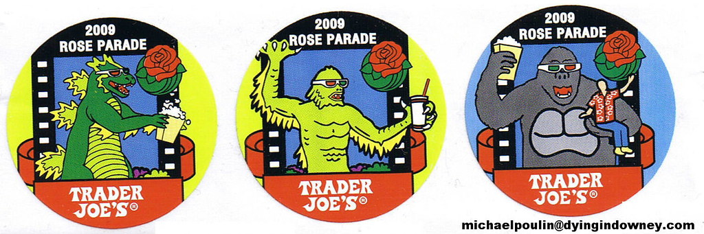 New 2009 Rose Parade Trader Joe's stickers