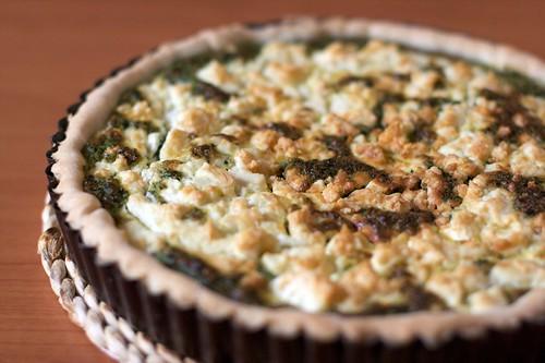 Torta salata con bietole e feta