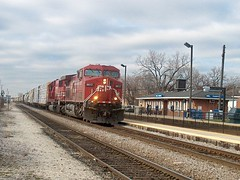 Eastbound Canadian Pacific freight train. Franklin Park Illinois. December 2006.