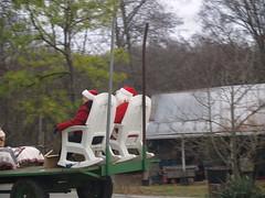 Santa's lawn chair!