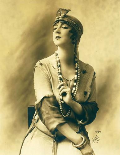 Ruth St Denis in costume.