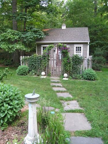 Garden Cottage In The Summer.