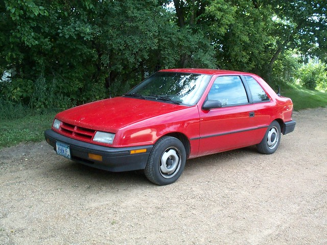 shadow red vehicle dodge 1994 hatchback