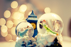 Second Star to the Right... (Ana Santos) Tags: love bokeh peterpan 2008 mybed snowglobe 25daysofchristmas anasantosphotography