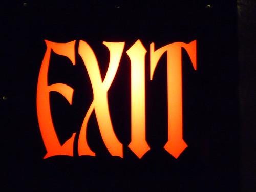 exit up close