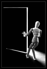 "Outside mistery (ANVRecife) Tags: door light man macro canon woody monday mistery vallejos 40d conceptphotos macromondays anvrecife seeingthelight""vallejostoytoyswoodymodelwood"