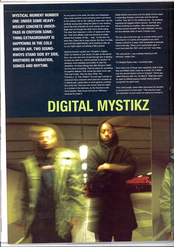 Digital Mystikz in Deuce Magazine Jan 2004 p1 - by Martin Clark