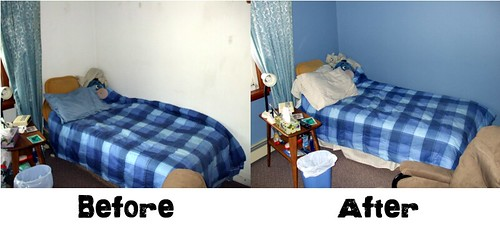 Before painting my room - Bed