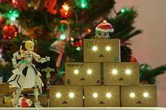MERRY CHRISTMAS (katsuboy) Tags: christmas white anime macro cute japan toys japanese amazon lily sony manga christmastree videogames kawaii sword ps2 merryc