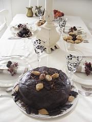 xmas table 2 (tabithaemma86) Tags: christmas bird cake table nest decortations