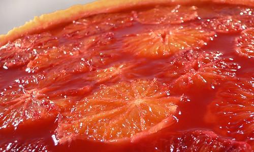 Käsekuchen mit Blutorangen