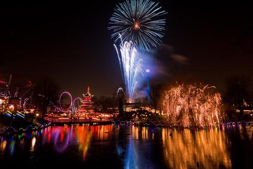 [Billede: Tivoli Garden fireworks]