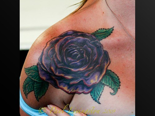 Summernats Tattoo Contest 2009-33.jpeg by paullivo44. Purple Rose tattoo