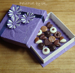 Miniature Food - Violet Chocolate Box