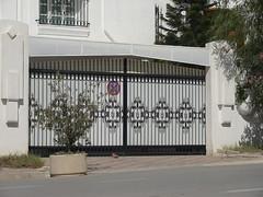 Style de porte exterieure en fer forgé