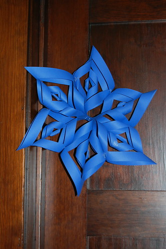 My First attempt at a 3-D Paper Snowflake....