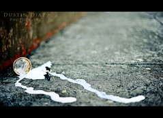 Day Thirteen (Dustin Diaz) Tags: sanfrancisco street cup trash 50mm nikon dof bokeh framed cream spoon litter tuesday 365 nikkor featured project365 icedcream 50mmf14g dustindiazcom d700 hbwe