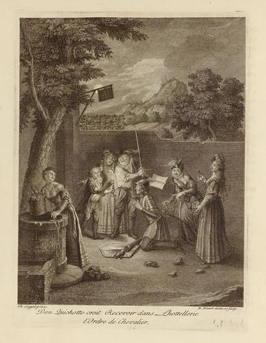 001- Don Quijote recibiendo la orden de Caballero-1746