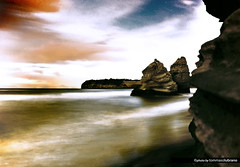 Into The Dream (Illusiontom) Tags: longexposure sea sky italy panorama music beach clouds landscape nikon italia nuvole mare waves campania guitar pat dream explore picasso cielo nikkor isle procida spiaggia onde isola metheny sogno 1870 ihaveadream faraglioni d80 pikasso longtimes illusiontom lidolarotonda