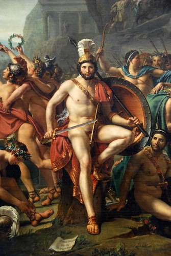 Louvre - Leonidas at Thermopolis - David