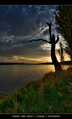 Yerrabi Pond Sunset (Sam Ili) Tags: park light sunset sky sun color tree grass silhouette clouds canon pond australia canberra hdr photomatix gungahlin 450d weatherphotography canberrasunset anawesomeshot citrit yerrabi goldstaraward artofimages canon1022mm3545