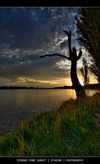 Yerrabi Pond Sunset (Sam Ili) Tags: park light sunset sky sun color tree grass silhouette clouds canon pond australia canberra hdr photomatix gungahlin 450d weatherphotography canberrasunset anawesomeshot citrit yerrabi goldstaraward artofimages canon1022mm3545