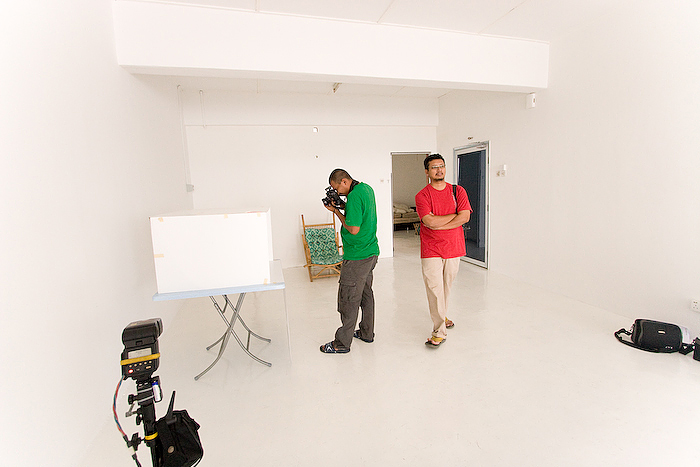 IMAGE:Sham Abdul, photographing food at my studio where I conduct my