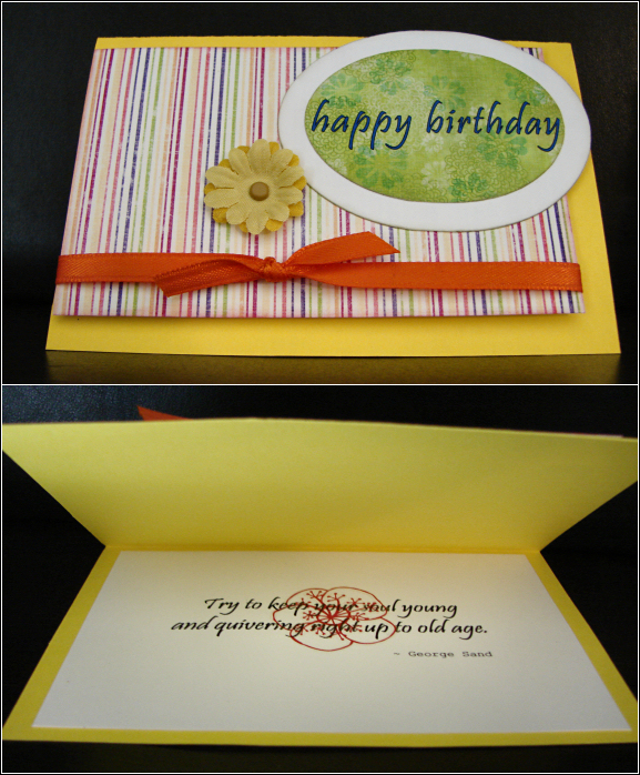 Sunny Birthday Card (Hybrid Craft)