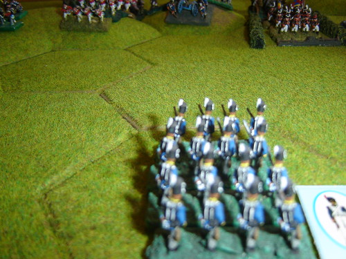 French advance into the guns