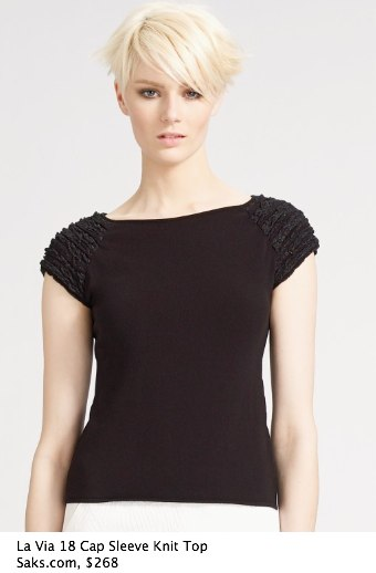 Saks.com - La Via 18 - Cap Sleeve Knit Top