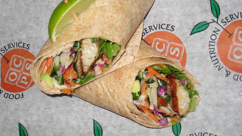 Roasted Fish Crispy Slaw Wrap. Liberty Middle School is a semi-finalist in the First Lady's Recipes for Healthy Kids competition