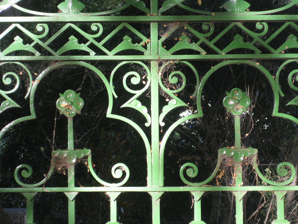 Detail of High Street Entrance Gates of the Victoria Gardens - Prahran