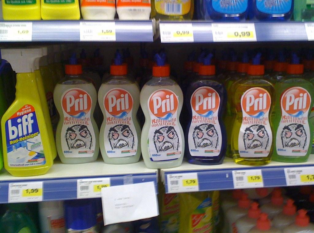 Pril Rage Guy Action in supermarket: PRIIIIIIIL