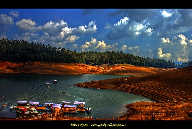 Boat house at Pykara lake, Ooty (HDR)