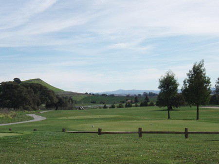 View down the first hole at Eagle Vines Golf Club