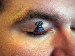 Bubba Got His Eyelid Tattooed - All Seeing Eye! (HeadOvMetal) Tags: art shop tattoo austin studio march artist texas mason saturday megan bubba 2008 eyelid bodymodification atx allseeingeye rockofages slamar gullycat