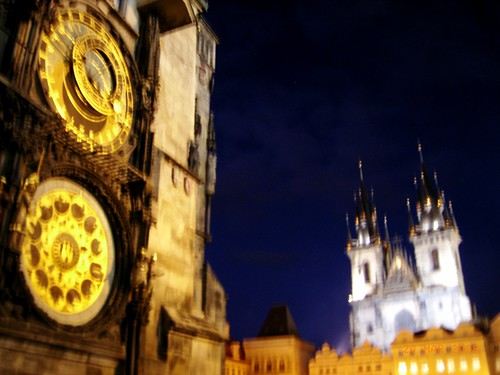 Praga by night - Old Town Hall