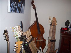 The Al Caldwel guitar arsenal (beaushelby) Tags: fashion vancouver magazine comics artist folk cd famous humor cartoon pop bands artists amusementpark nytimes concerts relationships britney cartoons lohan armani bassplayer bloopers drewbarrymore bbcnews