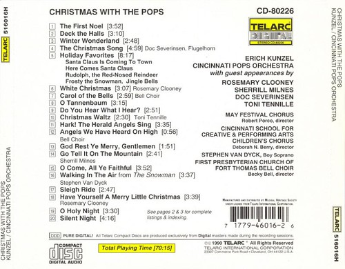 Erich Kunzel & Cincinnati Pops Orchestra - Christmas With The Pops (1990) (rear)