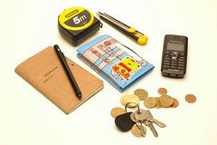 design academy eindhoven netherlands holland pocket contents necessities phone mobile hand cell wallet keys change euro money tape measure knife xacto utility stanley pen notebook
