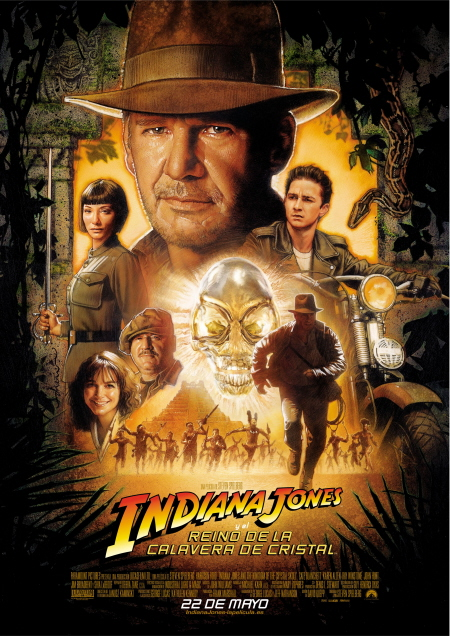 Póster Indiana Jones Steven Spielberg Harrison Ford