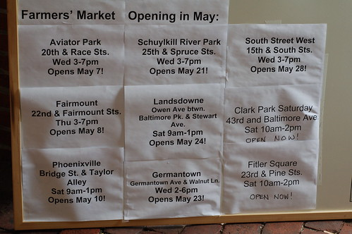 Farmers Markets opening in May
