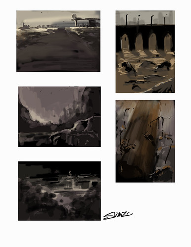 rough sketches for The Road